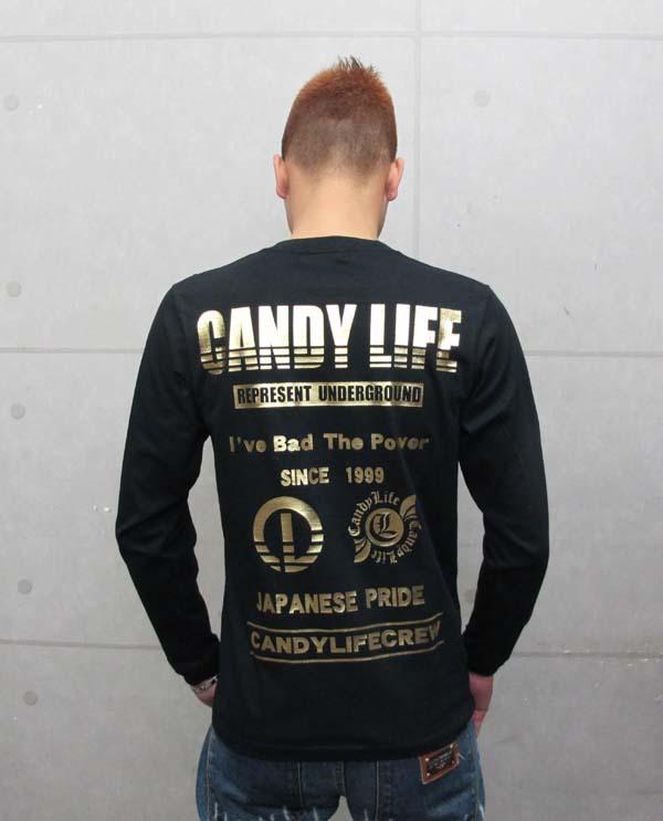 画像2: CANDY フルスペックロンT(黒x金)