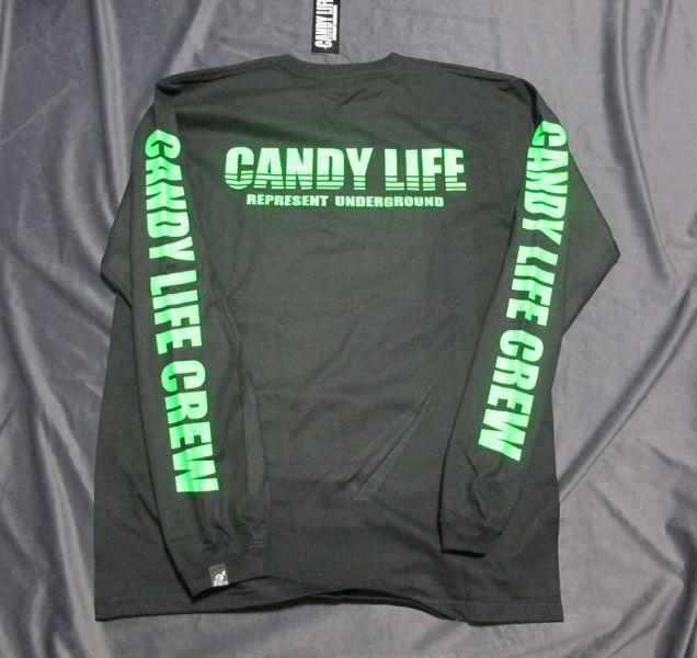 画像2: CANDY LIFE 蛍光ロンT(緑)