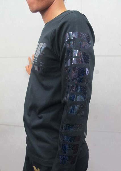 画像3: CANDYLIFE JAPANESEPRIDE ホログラムロンT (黒x黒)