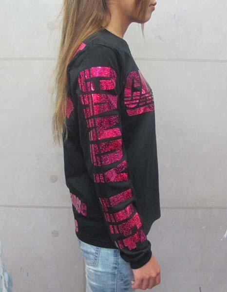 画像3: CANDYLIFE JAPANESEPRIDE ホログラムロンT (黒xピンク)