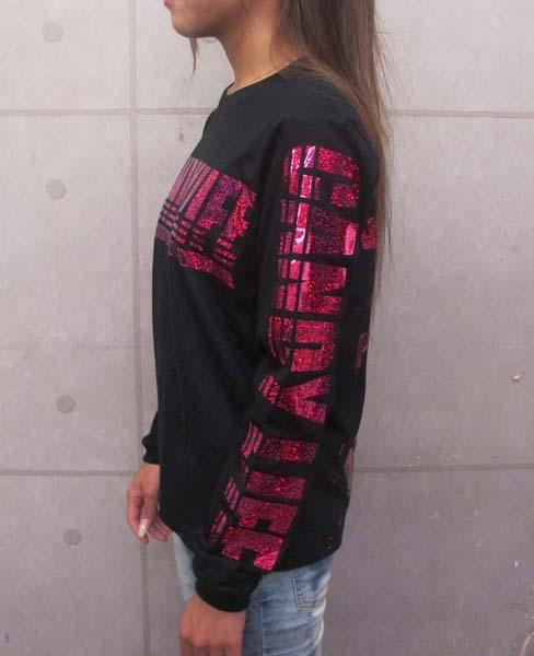 画像4: CANDYLIFE JAPANESEPRIDE ホログラムロンT (黒xピンク)