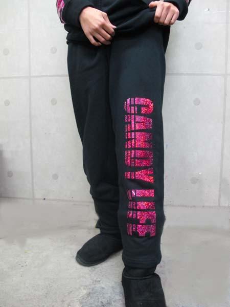 画像1: CANDYLIFE ロゴホログラムパンツ(ピンク)