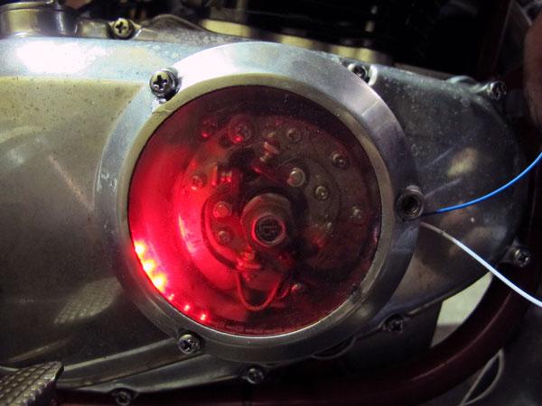 画像3: SUZUKI GS400用 アルミリム付き透明ポイントカバー