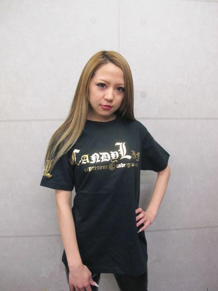画像1: キャンディーマークTシャツ(金)