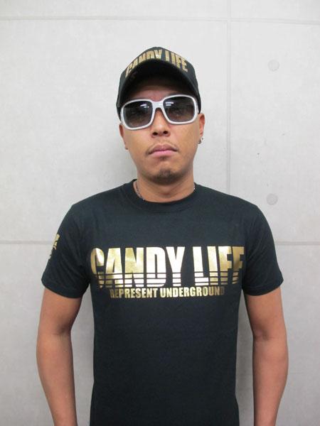 画像2: CANDYLIFE ロゴTシャツ(金)