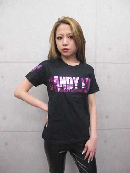 画像1: CANDYLIFE ロゴTシャツ(ピンク)
