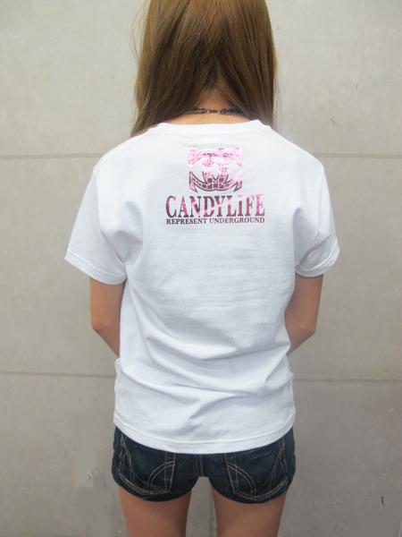 画像2: CANDYLIFE CクロスTシャツ(白xピンク)
