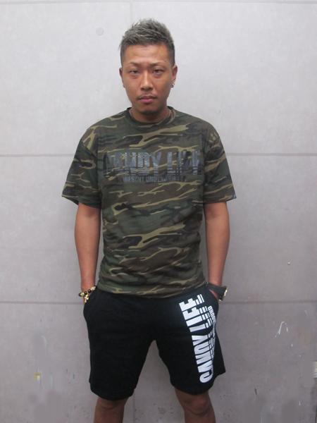 画像1: CANDYLIFE 迷彩Tシャツ(黒)