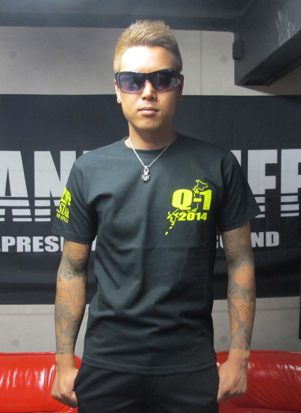 画像2: Q-12014Tシャツ(ブラックxイエロー)