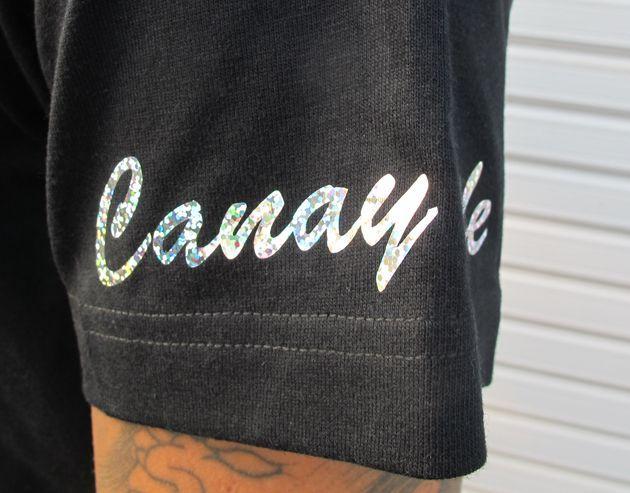 画像2: CANDYLIFE 筆記体ロゴTシャツ(シルバー)