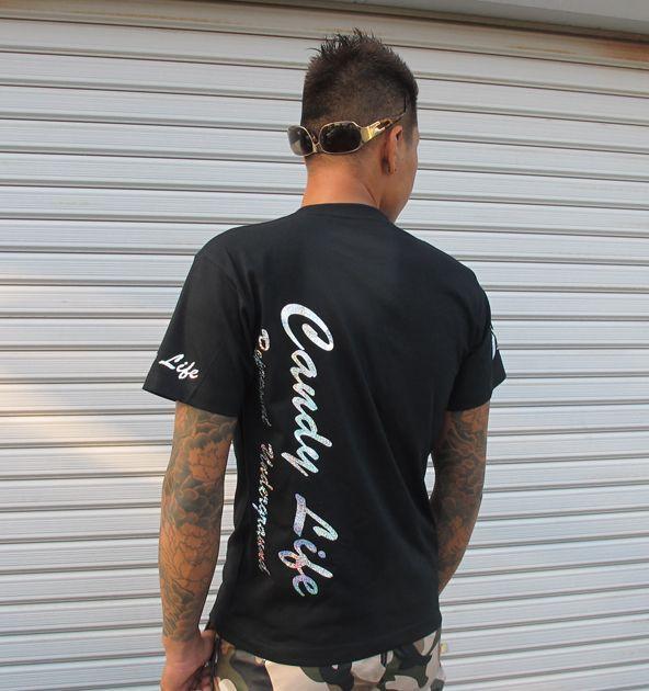 画像4: CANDYLIFE 筆記体タテロゴTシャツ(シルバー)